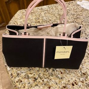 Black with soft pink purse